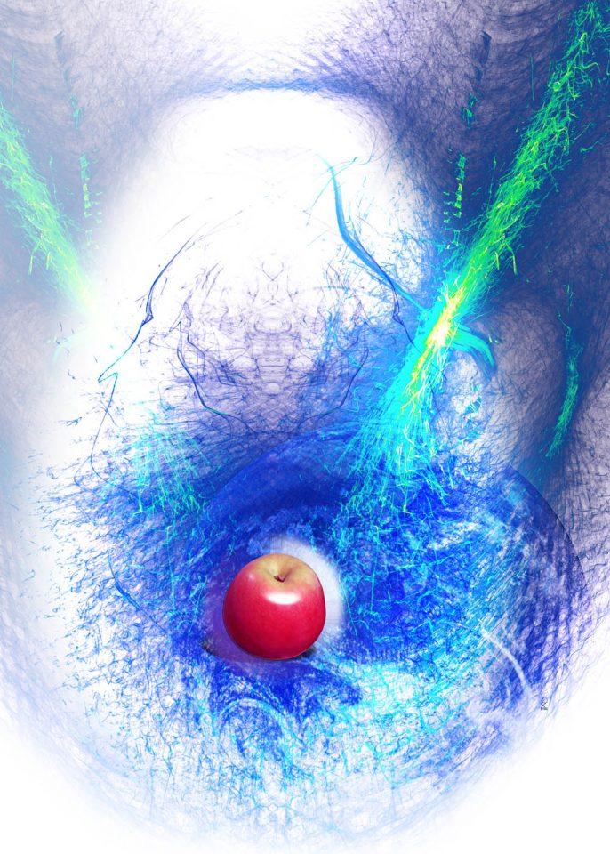 Bildtitel: Apfel-Creation, Format: 50 x 70 cm, Datum: Sept.2020; Daten 62 MB, 200 dpi.